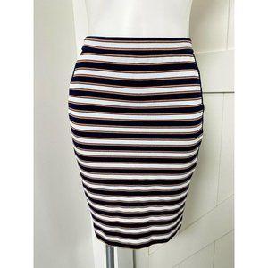 Banana Republic Blue Orange Stripe Pencil Skirt